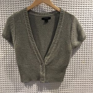 Express  metallic shortsleeved cardigan. Size M,